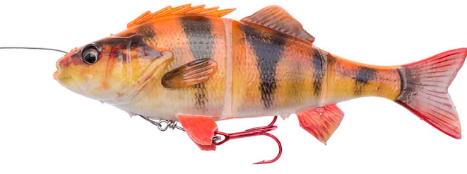 Savage Gear 4D Line Thru Perch Albino 17cm.