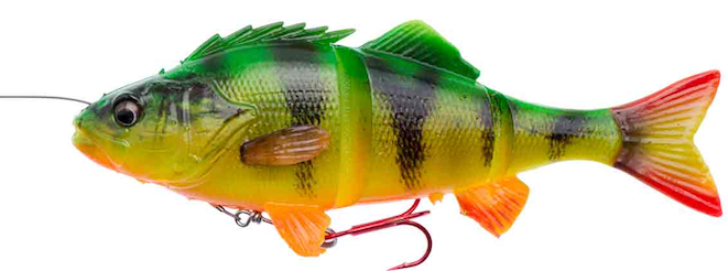 Savage Gear 4D Line Thru Perch Firetiger 17cm.