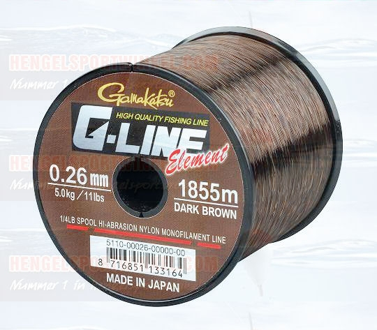 Gamakatsu G-Line Element Brown 1/4 Lbs Spoel