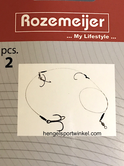 Rozemeijer Live/Deadbait Rigs 30Lb 2 Treble + 1 Single Hooks  mt
