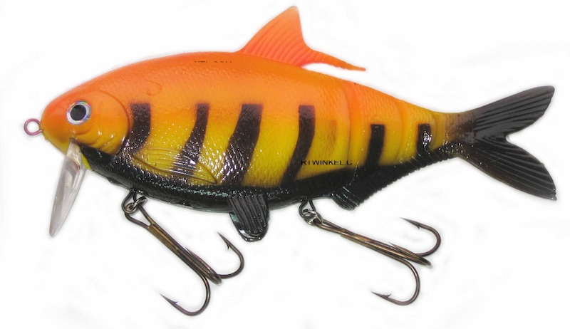 "Musky Innovations Shadclone 10"" Orange C-Bra"