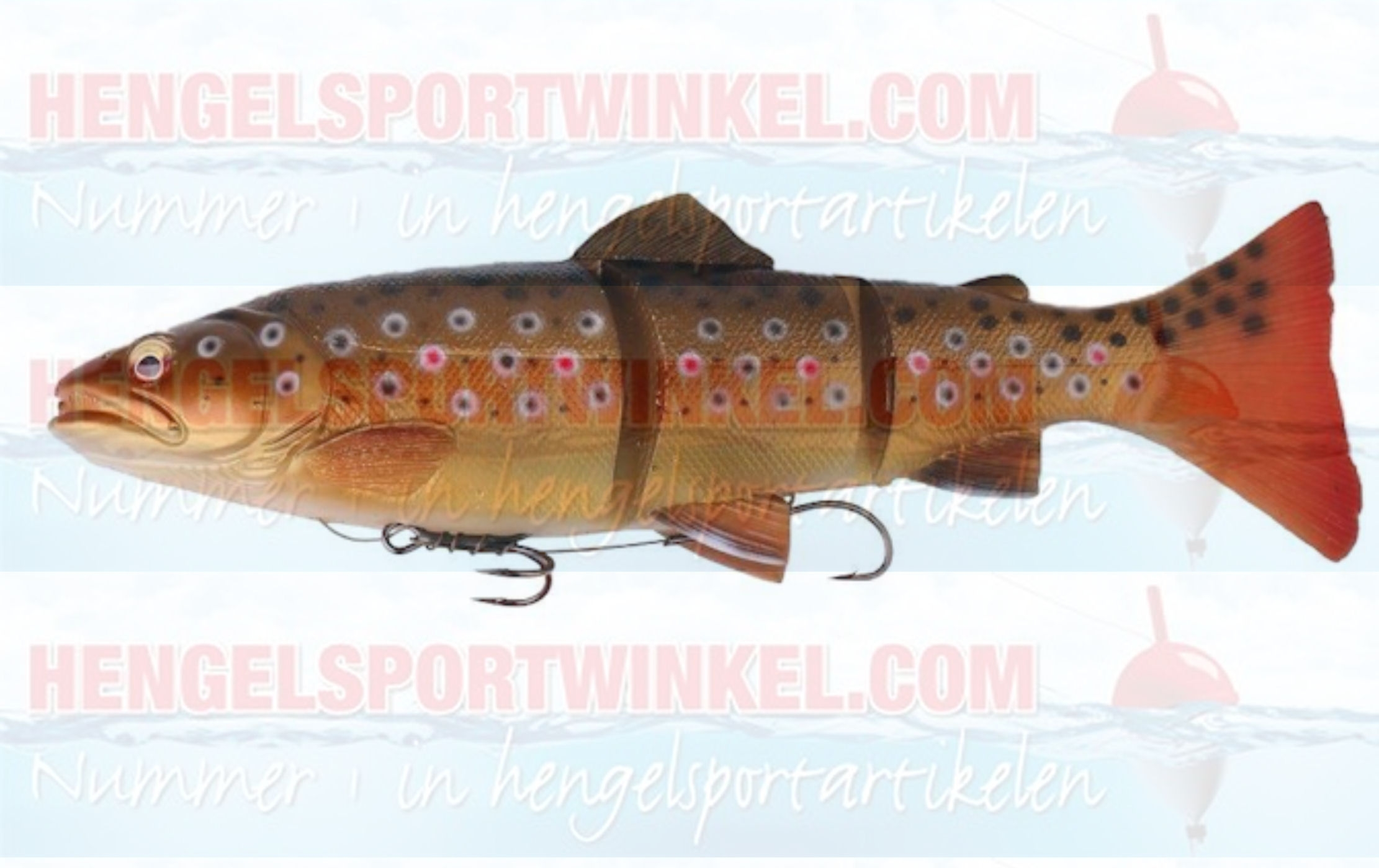 savage Gear 3D Line Thru Trout 15 cm. Dark Brown